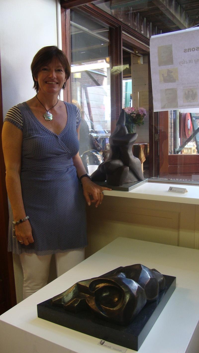 lisa prifti & her sculpture